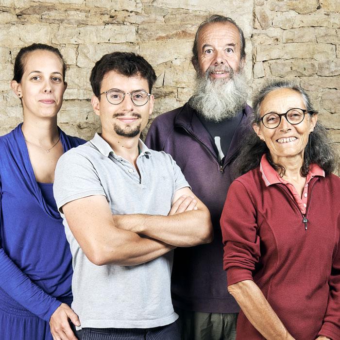 Guillemot Pierrette, Marc, Sophie et Roussille Gautier